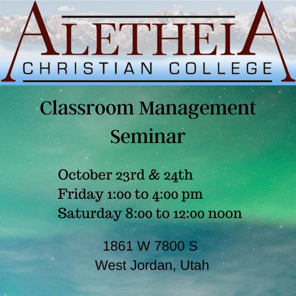 Classroom Management Seminar